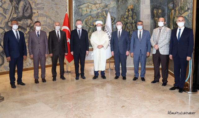 Başkan Erbaş, Gaziantep Valiliği'ni ziyaret etti