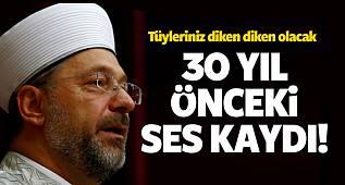 Başkan Ali Erbaş'ın 30 yıl önce okuduğu ezan